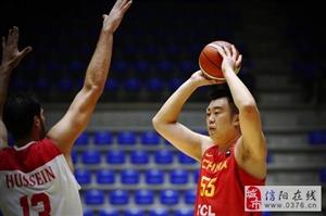 郭艾伦因伤缺阵,中国86-55大胜约旦,韩德君13分7板