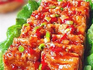 鱼香豆腐夹经典的鱼香味