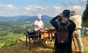 中央电视台在凤冈茶海之心拍摄仙人岭茶宴
