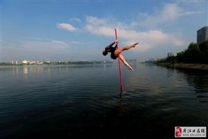 仙女下凡丹江口 水上芭蕾秀水都