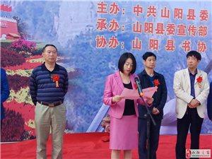 【喜迎十九大】山阳县举办喜迎十九大书画展凝聚正能量