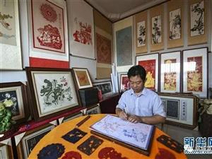 """阜城:刘建国―""""刀尖""""上的剪纸艺人"""