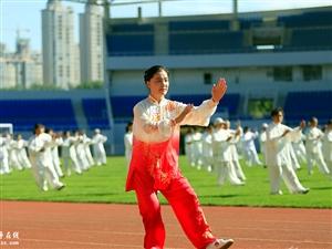 """枣庄:共""""舞""""太极 传承文明"""