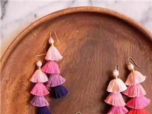 万能的毛线,随便拿针串一串,都是一件精美饰品!