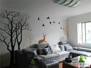内墙电视背景绘画