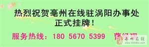 热烈祝贺亳州在线驻涡阳办事处正式挂牌!