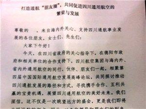 """川航副总经理陈斌:打造通航""""朋友圈"""",共同促进四川通用航空的繁荣与发展"""
