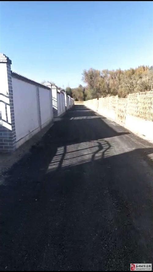 瓜州农村后院都铺上柏油马路了,新农村建设再向前迈出一步