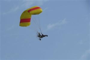 """【原创】2017四川国际航空航天展览会的""""轮式动力伞""""表演(组图)"""