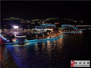 江南一景:手机随拍太湖月亮湾夜景