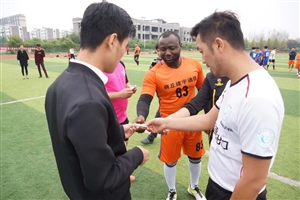 """2017年虞城县""""新倍力""""杯足球比赛拉帷幕"""