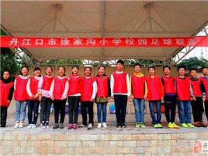 丹江口市徐家沟小学校园足球联赛最喜爱的班级球队网络评选活动合影照