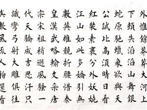 """20171017:杨四平先生书法作品""""沁园春雪""""欣赏!"""