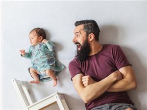 组父亲与女儿的创意摄影照片,以后也要这么拍,满满都是爱!
