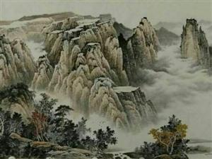 朱德辉横幅山水画作品