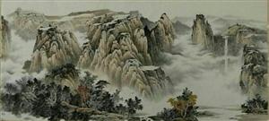 朱德辉横幅山水画作品 (组图)
