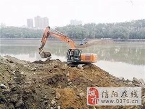 信阳�负庸�园步行桥开工建设
