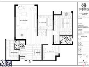 华宁装饰/以卓越的品质为基础/打造完美居家生活/西城壹号15栋1号户型