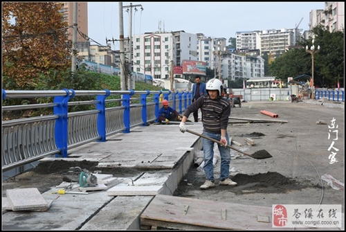 嘉陵江大桥维修工程即将完工