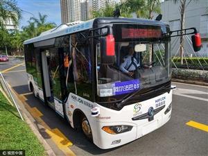 全球首例无人驾驶公交车在深圳福田保税区试运行!