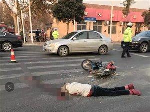 警钟!即墨湘江二路发生一起交通事故!一女子当场身亡!