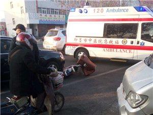早晨,即墨东关菜市场附近发生一起交通事故