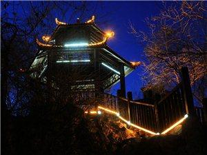 凌源公园夜景的灯光