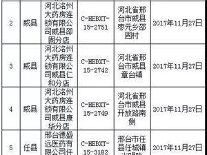 邢台市34家药店被查,包括澳门太阳城现金网多家知名药房