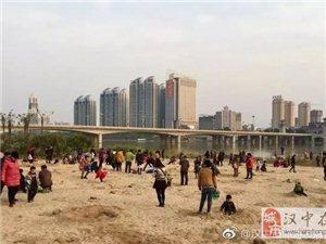 汉江有湿地冬韵若暮色
