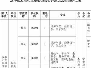关于面向汉中全市遴选公务员的公告