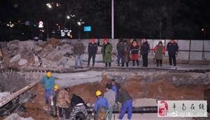 建设路裕华道口供水管线修复完毕,