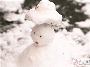 府谷迎来今冬的第一场雪!走,带你去河滨公园的雪地上撒野,快看他们玩疯啦