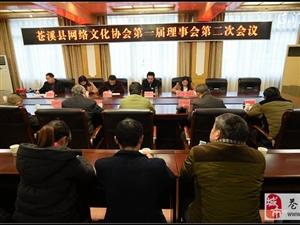 【苍溪】苍溪县网络文化协会2017年会议召开【图】