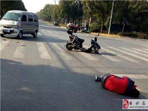 天能公寓旁一男子被撞飞十几米