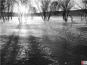 《草原冬雪》