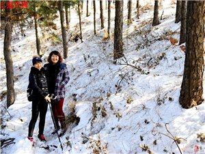 蓝天户外2018第01次去古道卢山看雪景户外活动
