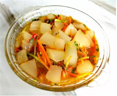 景东冬季专享美食满满胶原蛋白――猪皮冻