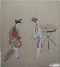 临摹历代名画是学习中国画的重要方法。