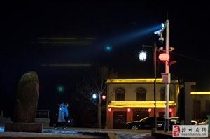 夜晚的道口古街