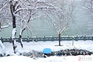 一江碧水一江雪,一叶孤舟半江柳。
