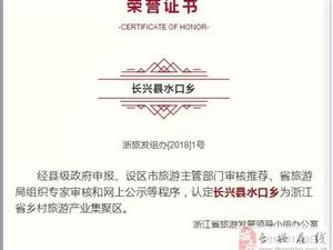 """水口乡被认定为""""浙江省首个乡村旅游产业集聚区"""""""