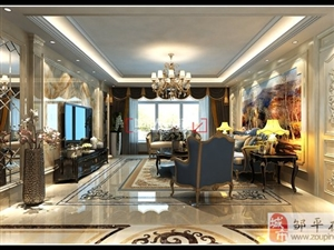 邹平装饰装修公司设计 邹平星河上城168�O欧式风格装修效果图