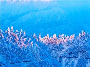 一组四人同山风光片,四人同山位于四川省荥经县境内,海拔3510米