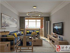 邹平家庭装修公司设计 邹平星河上城106�O简约日式风格装修效果图