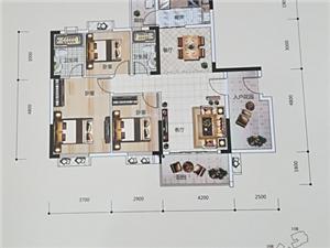 骏景花园116.48平方中层电梯毛坯3+1户型