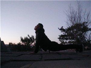 极寒户外瑜伽