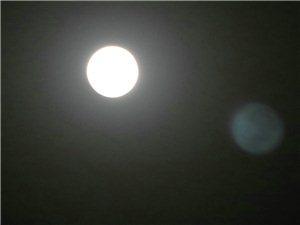 高清实拍:2018年1月31日晚高邑超级月亮