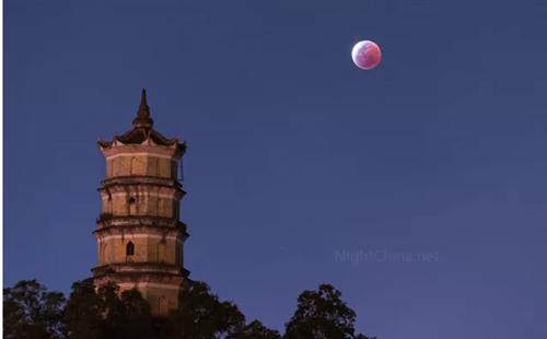 """20:51,首次""""超级蓝血月""""登陆青州!附青州最佳赏月地点!"""
