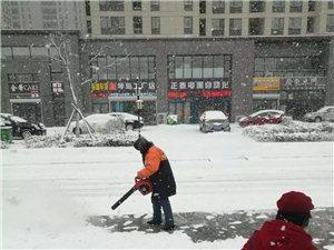 赞!大雪纷飞中,他们感动了即墨,向他们致敬!