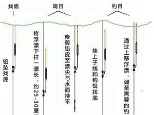 对于钓鱼新手在调漂过程详细的图解